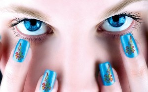 general-fancy-blue-with-red-yellow-flower-motif-nail-art-design-for-women-christmas-nail-art-designs-easy